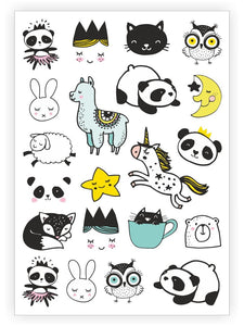 Sweet Doodles Temporary Tattoos - Little Owly