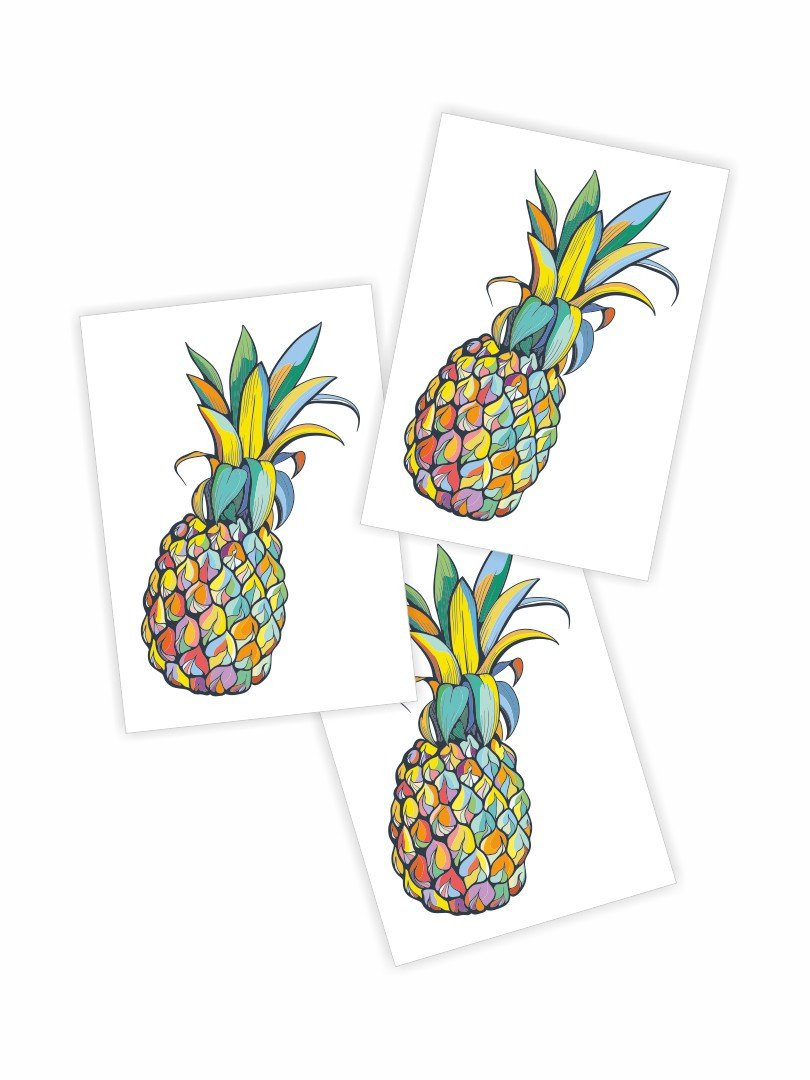 Juicy Pineapple Temporary Tattoo - Little Owly