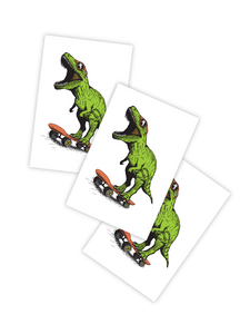 Dino Skate Temporary Tattoo - Little Owly