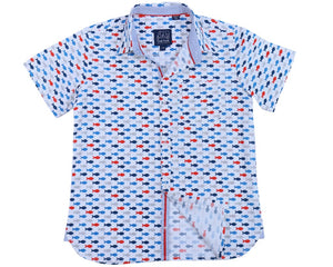 Short Sleeve Gone Fishing Button Down Shirt