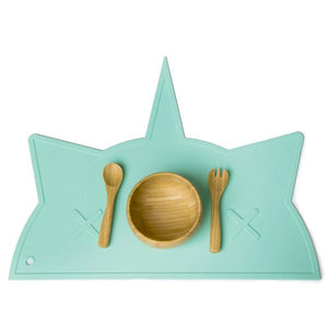 Mint Unicorn-Cat Non-Toxic Placemat - Little Owly