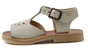 Belle Vanilla Child Leather T-Bar Sandal - Little Owly