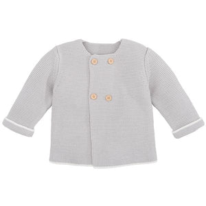 Gray Cardigan with Tipping - Little Owly