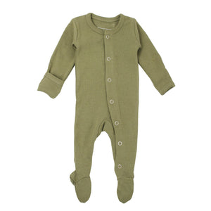 Organic Jumpsuit in Sage - Little Owly