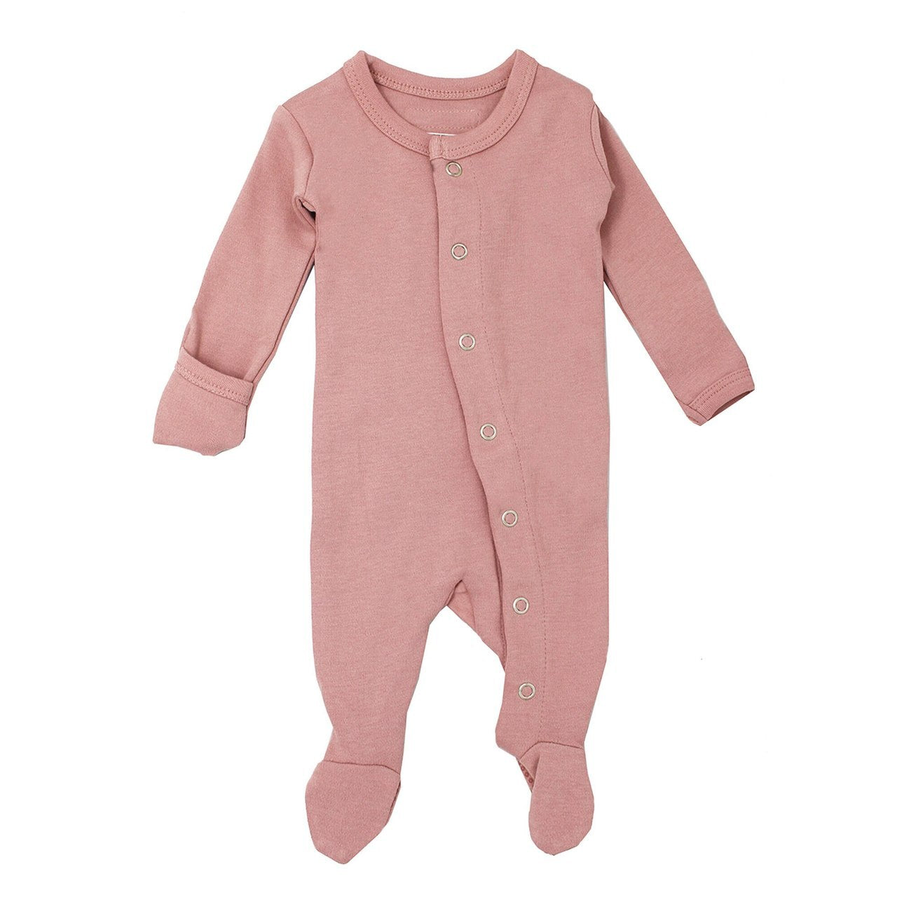 Organic Jumpsuit in Mauve - Little Owly