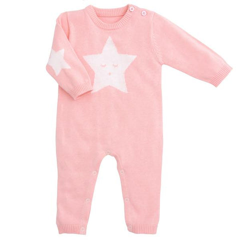 Star Knit Jumpsuit - Little Owly
