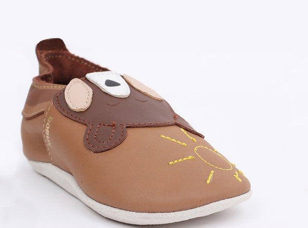 Soft Sole Caramel Bear Shoes - Little Owly