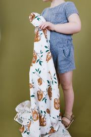 Slow Living Sloth Swaddle - Little Owly