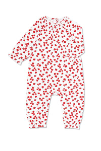 Lady Bug Smocked Romper - Little Owly