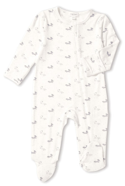 Grey Fox Zip-Front Footie Pajamas - Little Owly