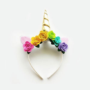 Unicorn Floral Headband - Little Owly