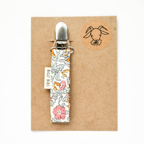 Liberty Floral Pacifier Clip - Little Owly