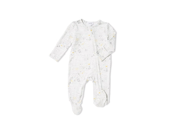 Farmland Zip-Front Footie Pajamas - Little Owly