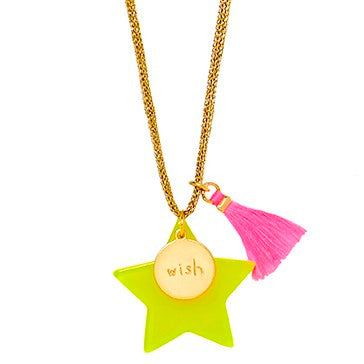 Large Star Wish Pendant Necklace - Little Owly