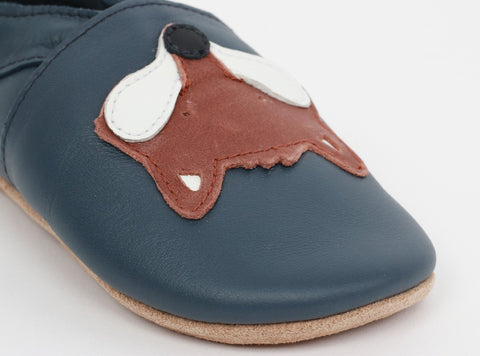 Soft Sole Navy Fox Shoes