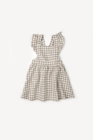 Mabel Ruffle Gingham Dress - Little Owly