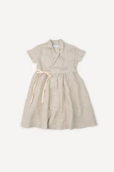 Flax Wrap Dress - Little Owly