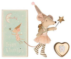 Tooth Fairy Big Sister Mouse with Metal Box - Little Owly