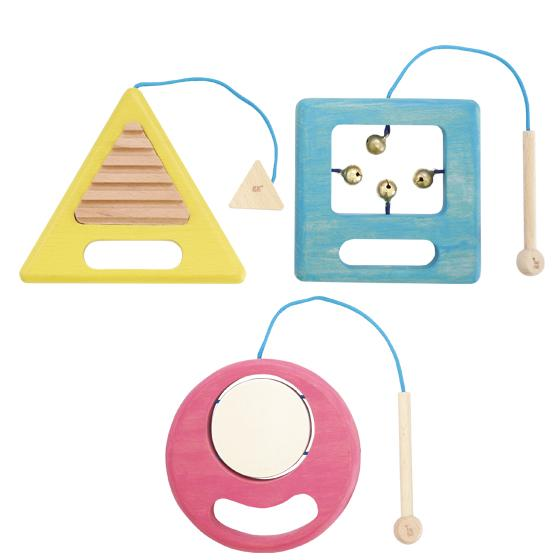 Gakki - a trio of percussion instruments - Little Owly