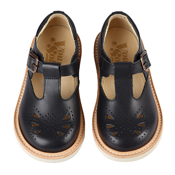 Rosie Baby Leather T-Bar Shoe - Little Owly