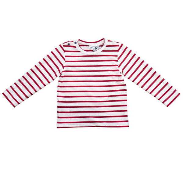 Henry Button Shoulder Long Sleeve Tee - Little Owly