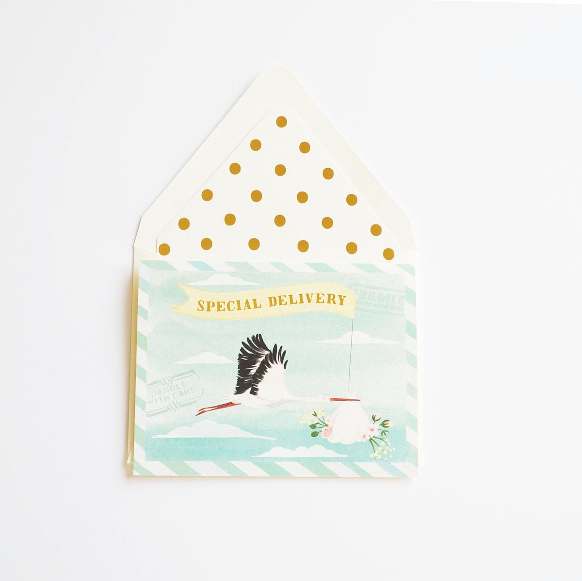 Special Delivery Baby Stork Card - Little Owly