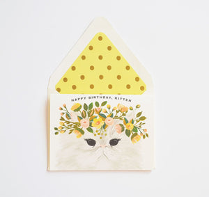 Happy Birthday Kitten Card - Little Owly