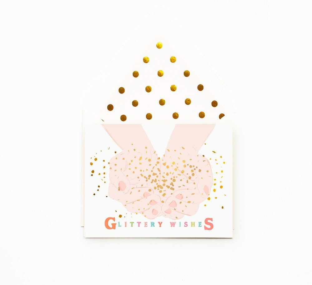 Glittery Wishes Card - Little Owly