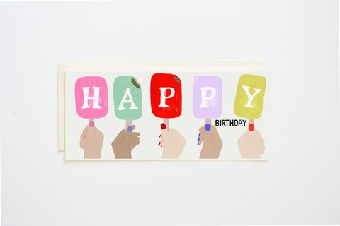 Popsicle Happy Birthday Card - Little Owly