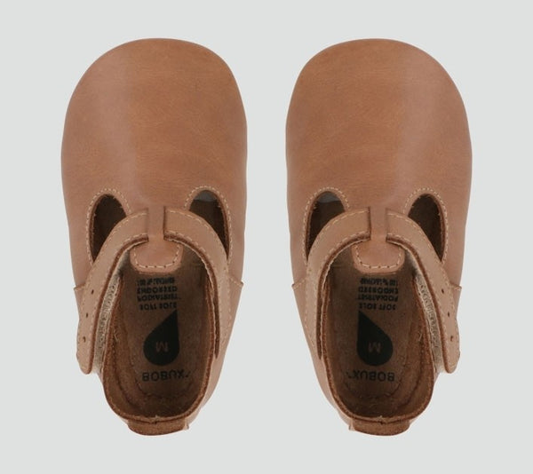 Soft Sole Caramel Jack and Jill Shoes - Little Owly