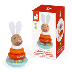 Lapin Stackable Roly-Poly Wooden Rabbit Toy