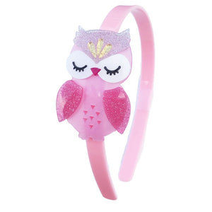 Pink Satin Owl Headband