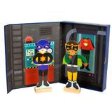 Superheroes Dress Up Magnetic Builder - Little Owly