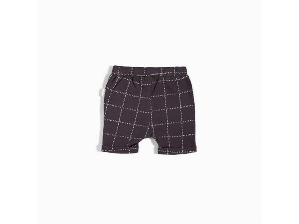 Grey Square Print Short - Little Owly