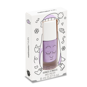 Piglou Purple Glitter Water-based Nail Polish for Kids - Little Owly
