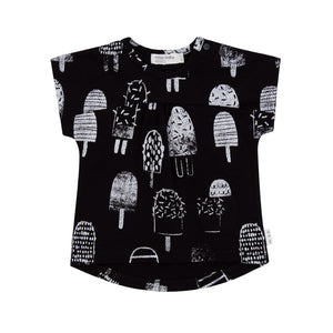 Miles Baby Black Popsicle Tunic - Little Owly