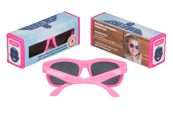 Think Pink Navigator Sunglasses - Little Owly