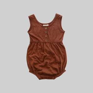 Russet Bubble Romper - Little Owly