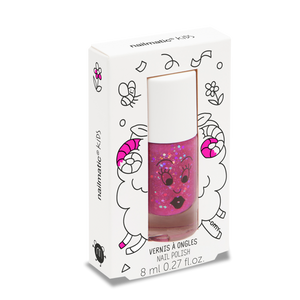 Sheepy Raspberry Pink Water-based Nail Polish for Kids - Little Owly