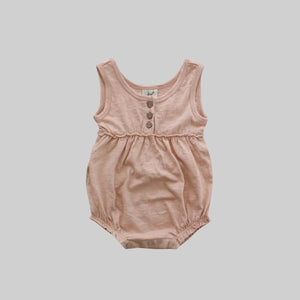 Shy Pink Bubble Romper