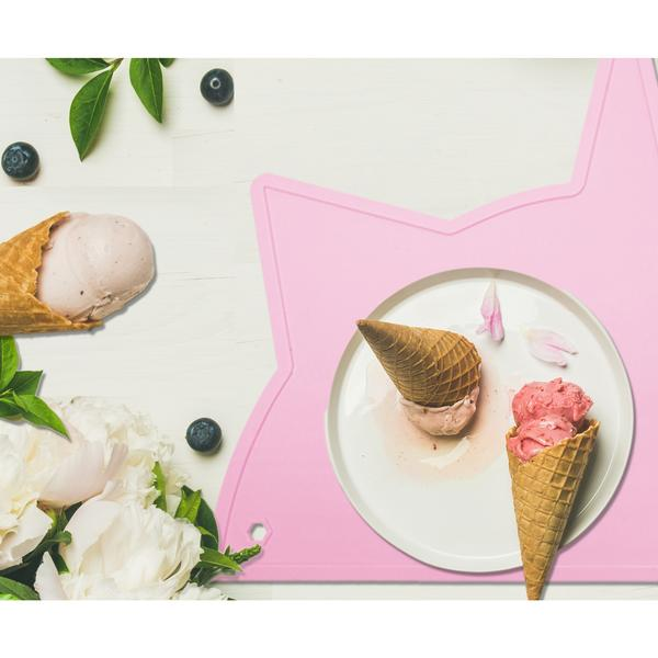 Pink Unicorn-Cat Non-Toxic Placemat