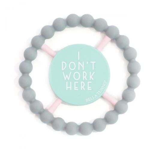 Don't Work Here Happy Teether - Gray - Little Owly