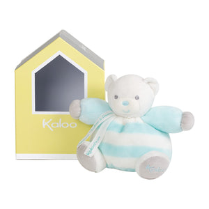 Chubby Bear Soft Toy Light Blue & Cream - Little Owly