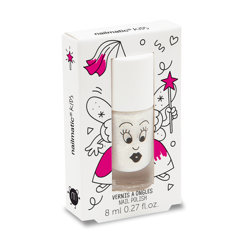 Zou Zou Pearly White Water-based Nail Polish for Kids - Little Owly