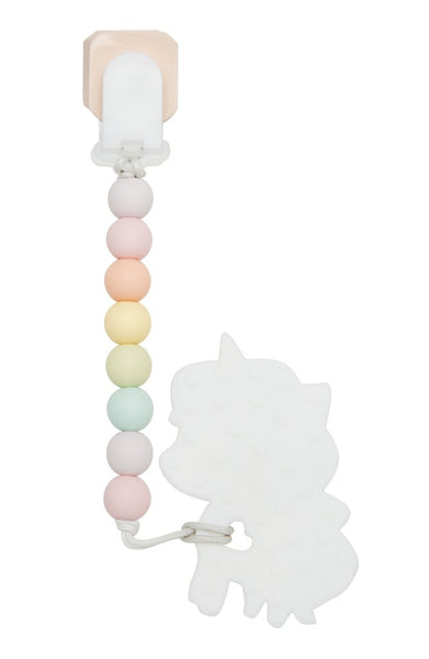 Rainbow Unicorn Teether & Clip Set