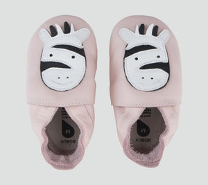 Soft Sole Blossom Zebra Shoes - Little Owly