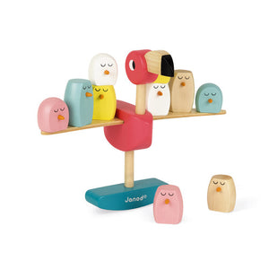 Wooden Zigolos Balancing Flamingo Game - Little Owly