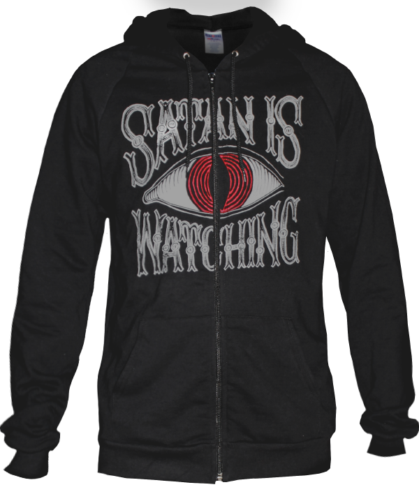 Satan Is Watching Zip-Up Hoodie