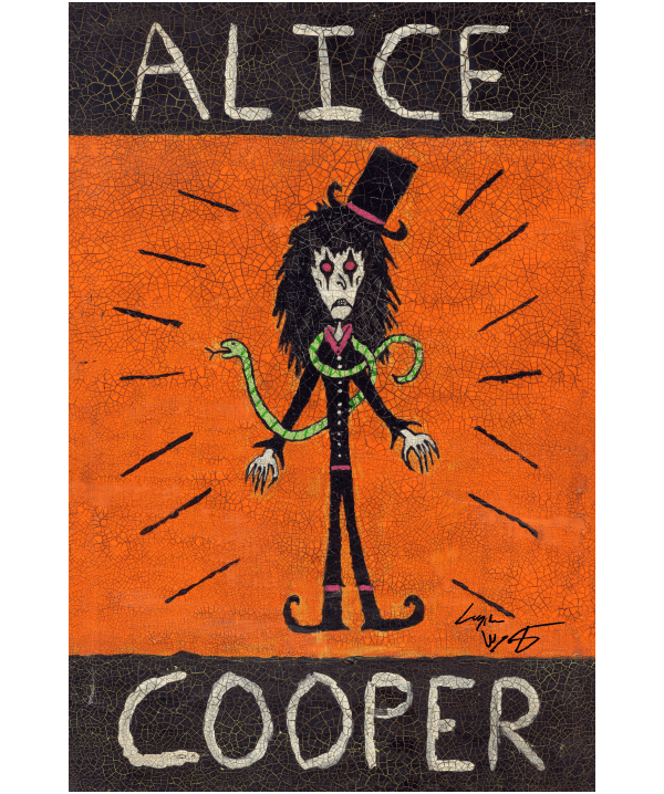 Alice Cooper Folk Art Print