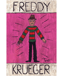 Freddy Krueger Folk Art Print